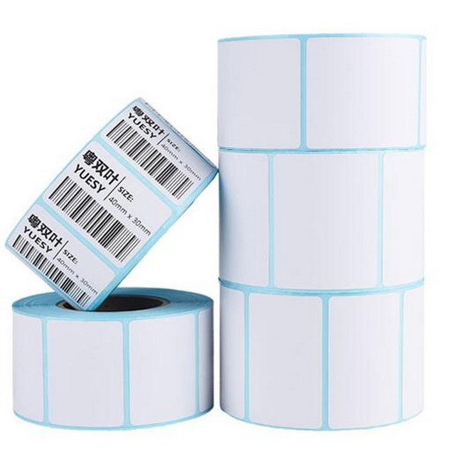 ISO Blue Glassine Paper 50G Direct Thermal Barcode Labels